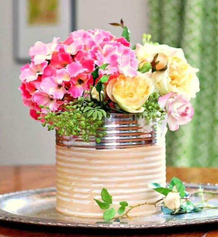 How To Make A DIY Glam Coffee Can Flower Vase