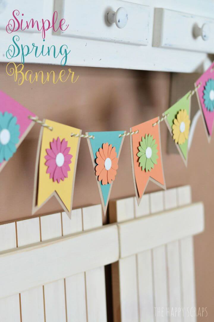 How To Make A DIY Spring Banner