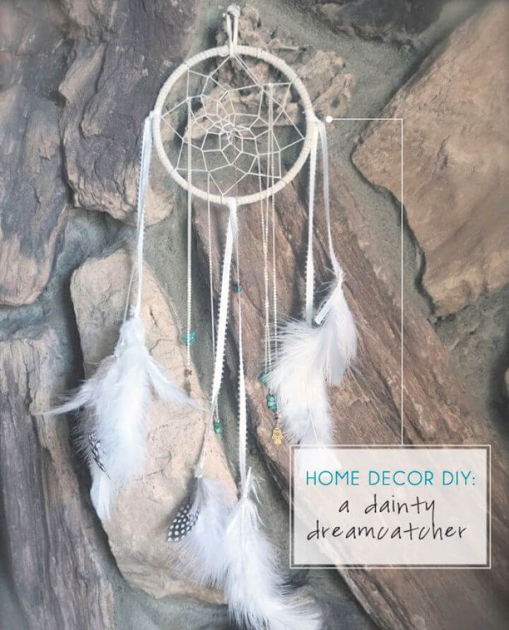 How To Make DIY Dainty Dreamcatcher