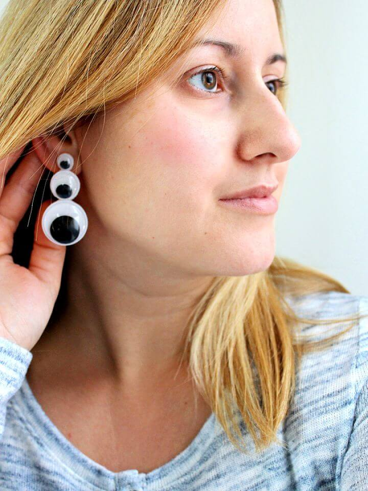 How To Make DIY Googly Eyes Drop Earrings