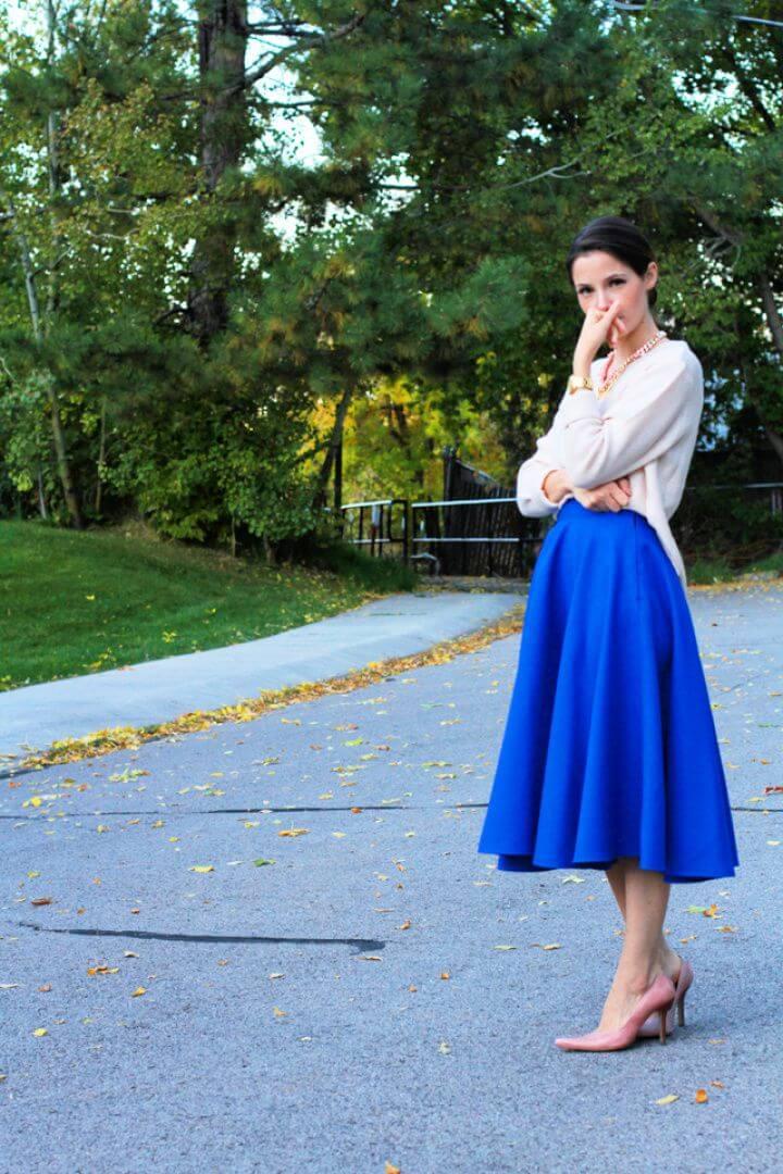 How To Make DIY Midi Circle Skirt