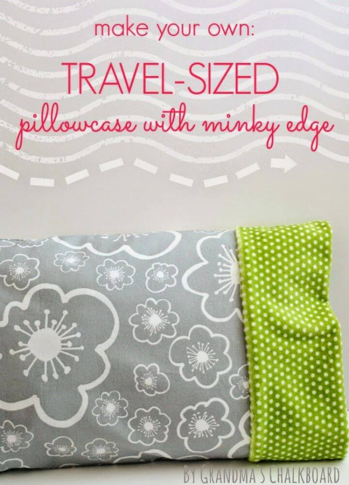 How To Make DIY Travel Sized Pillowcase
