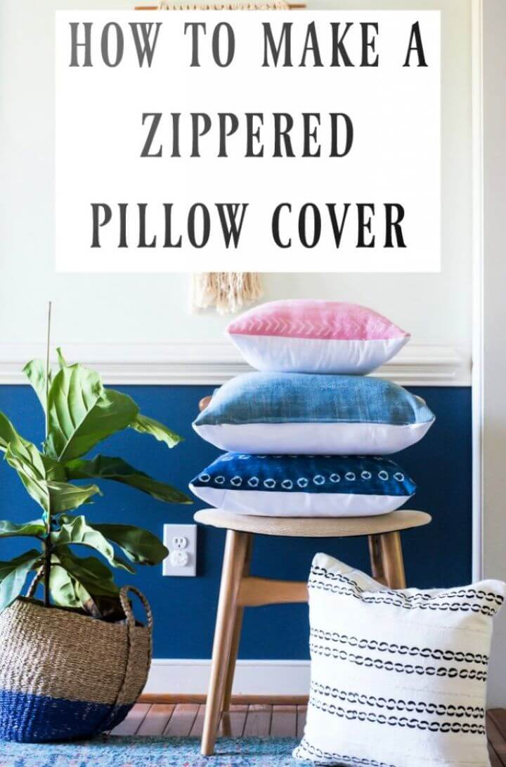 How To Make DIY Zippered Pillow Cover Tutorial