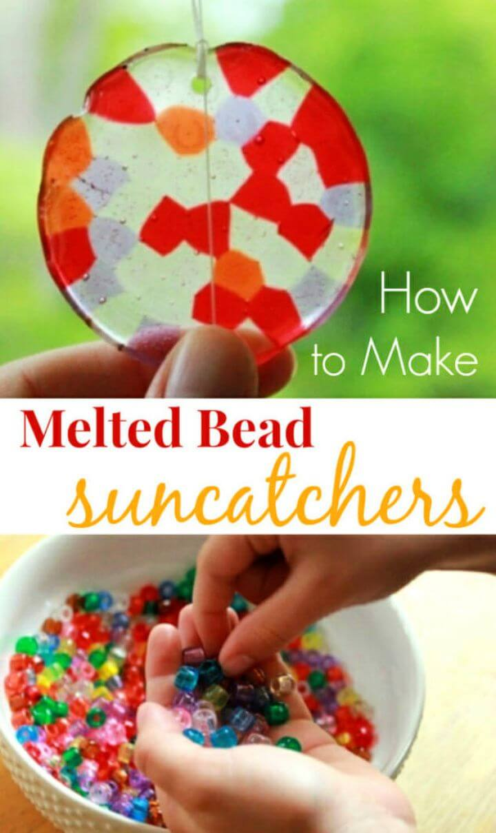 How to Make A DIY Melted Bead Suncatchers