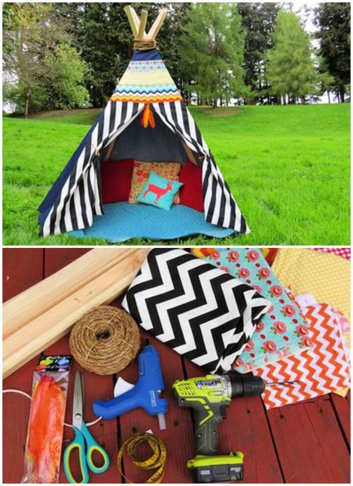 How to Make a DIY Teepee Tutorial