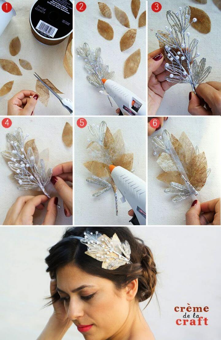 Make A DIY Beaded Bridal Headband