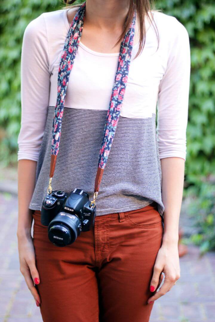 Make A DIY Camera Strap Laura Ashley Giveaway
