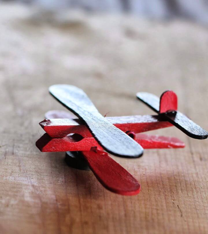 Make A DIY Clothespin Airplane Party Favors