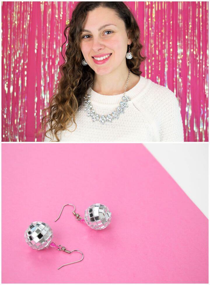 Make A DIY Disco Ball Earrings