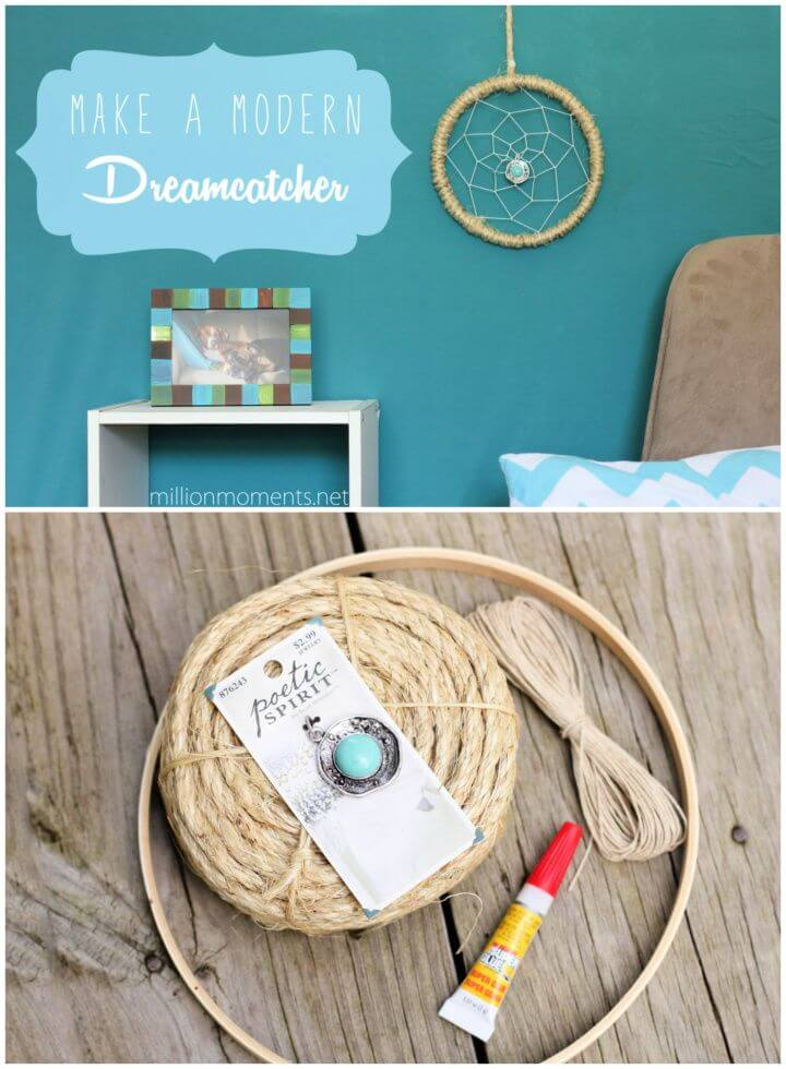 Make A DIY Modern Dreamcatcher For Home