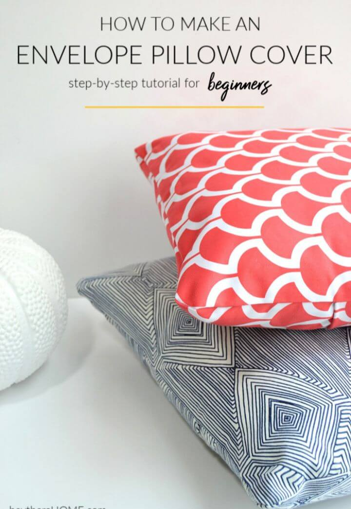 Make Your Own DIY Envelope Pillow Cover