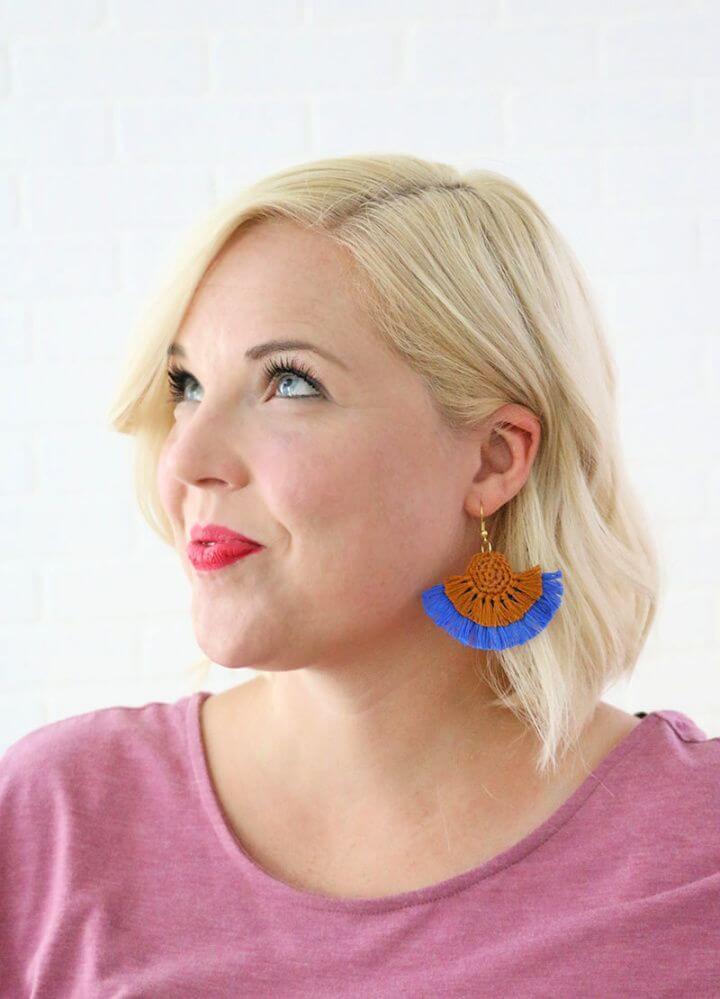 Make Your Own DIY Fringe Statement Earrings