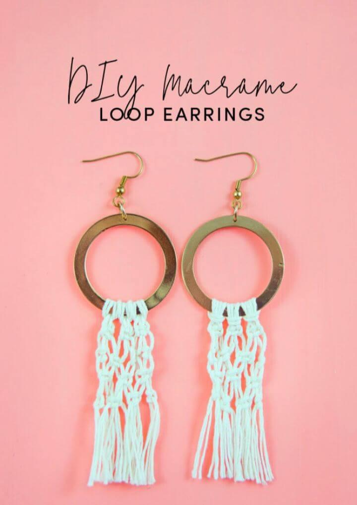 Make Your Own DIY Macrame Earrings