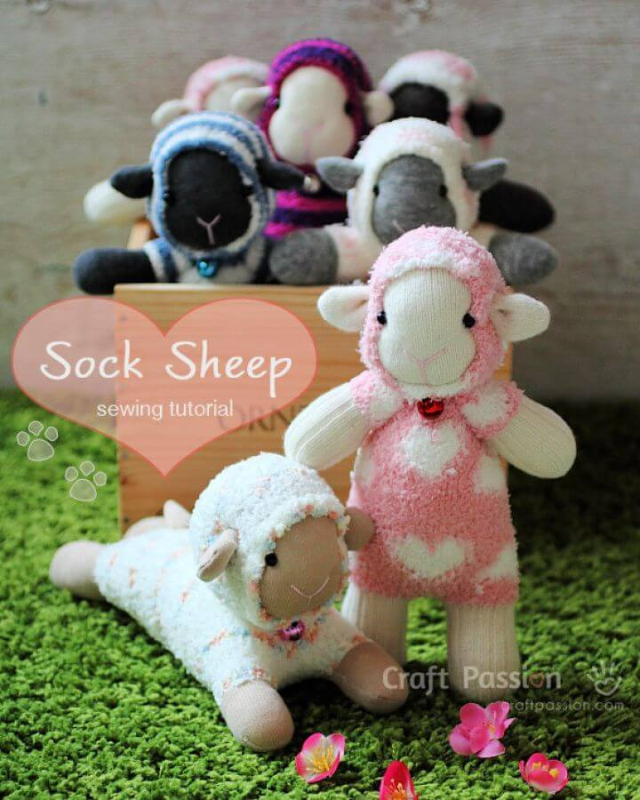 Make Your Own DIY Sheep Sewed from Fuzzy Socks