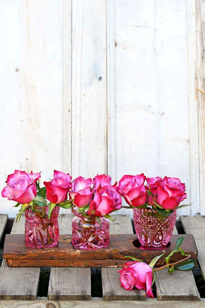 Making Beautiful DIY Upcycled Coloured Glass Bud Vases
