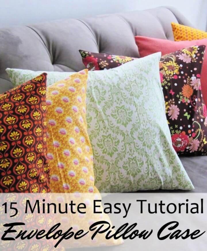 Quick DIY Envelope Pillow Case