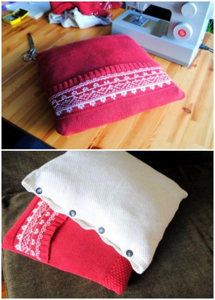 Recycle A Sweater Into A Cuddly Pillow