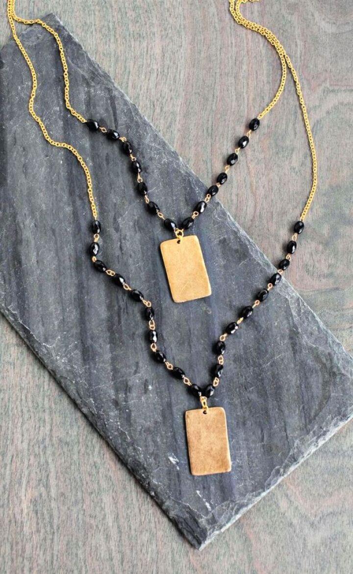 Simple DIY Beaded Pendant Necklace