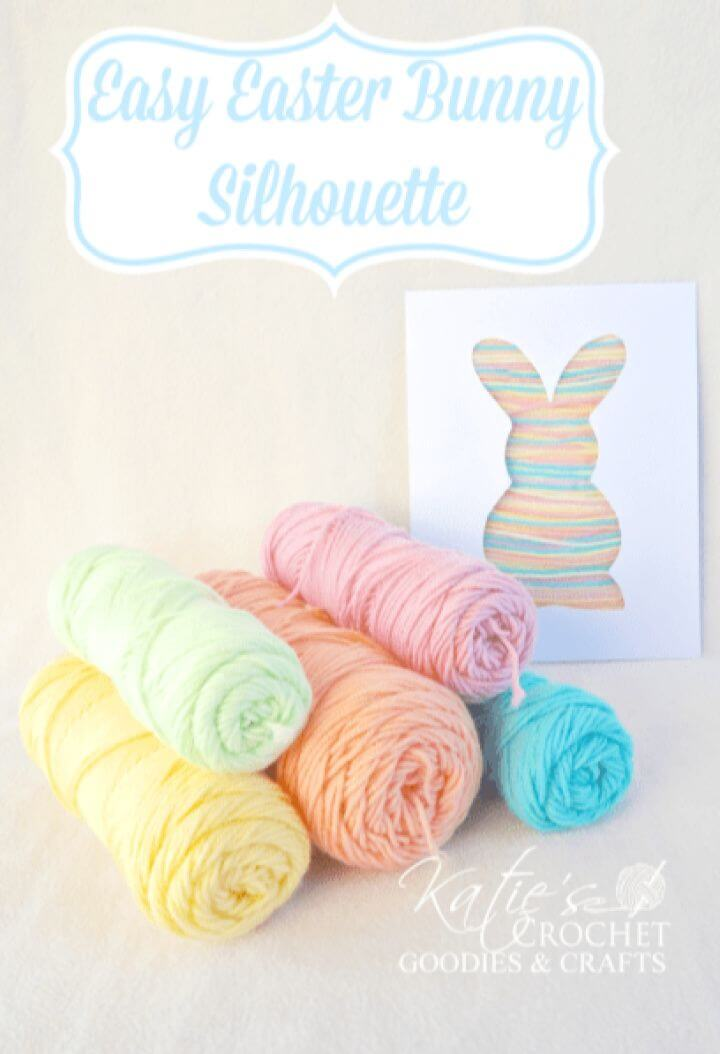 Simple DIY Bunny Silhouette Yarn Craft