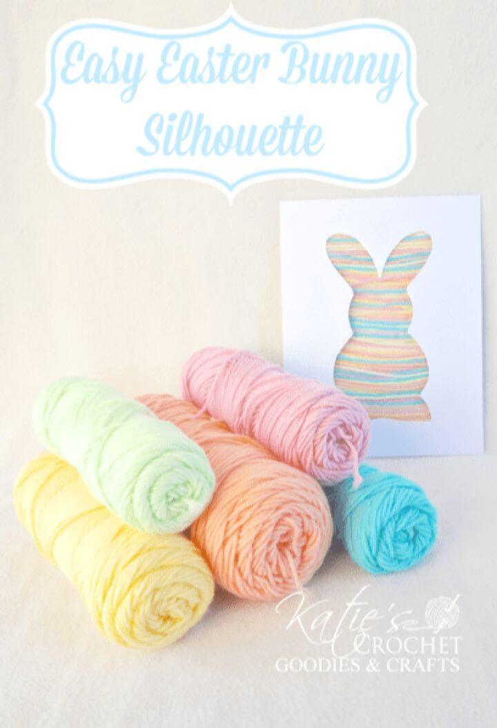 Simple DIY Bunny Silhouette Yarn Craft