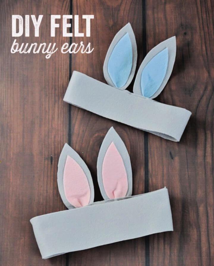 Simple DIY Felt Bunny Ears