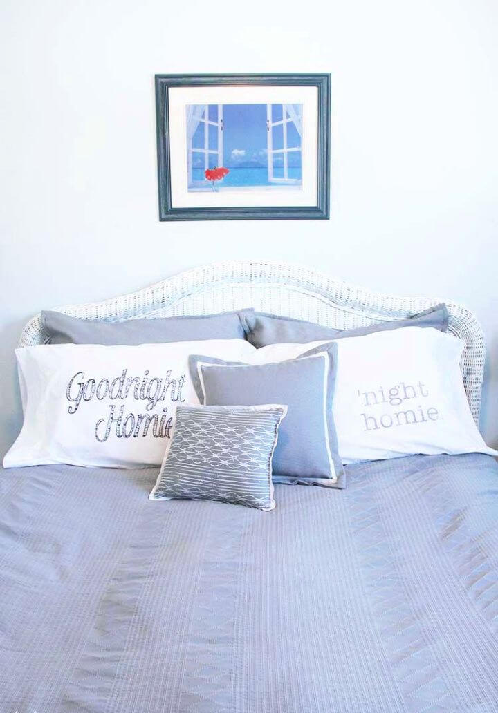 Simple DIY Personalized Pillow Cases Tutorial