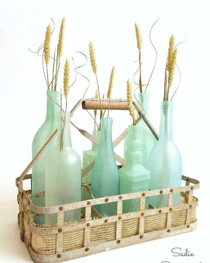 Simple DIY Sea Glass Bottles
