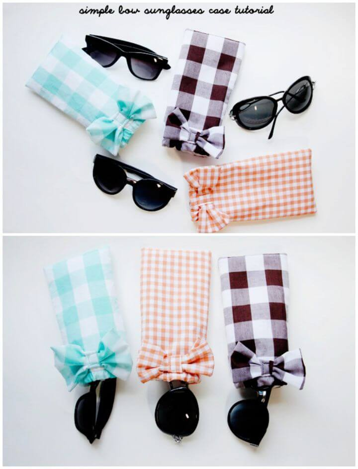 Simple DIY Sunglasses Case Tutorial