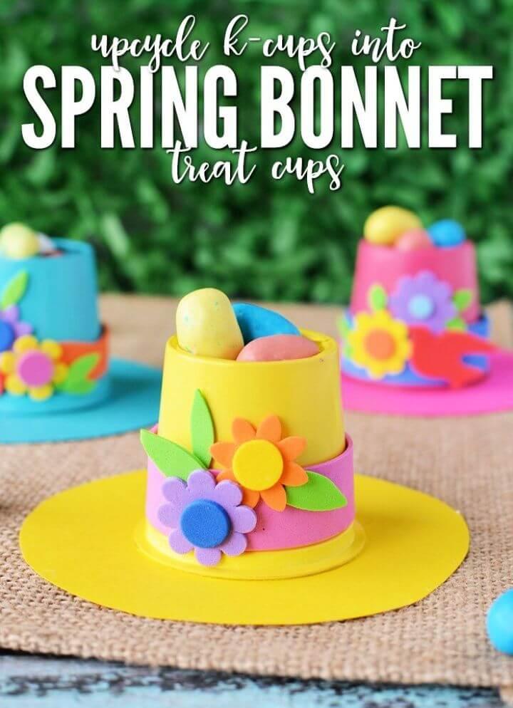 Springtime Bonnets K Cup Crafts to Make