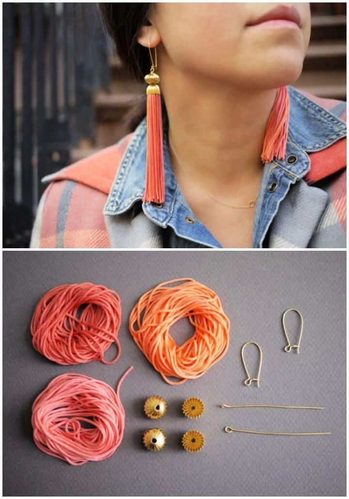 Super And Simple DIY Tassel Earrings