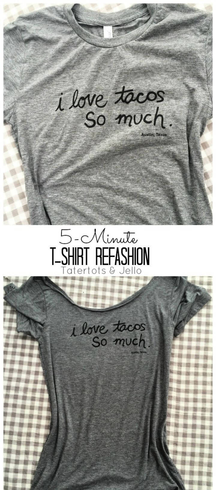 5 Minute T Shirt Neckline Refashion