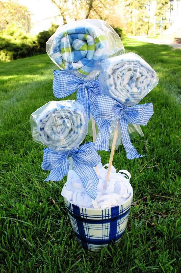 Baby Shower Gift Idea Burp Cloth Bouquet