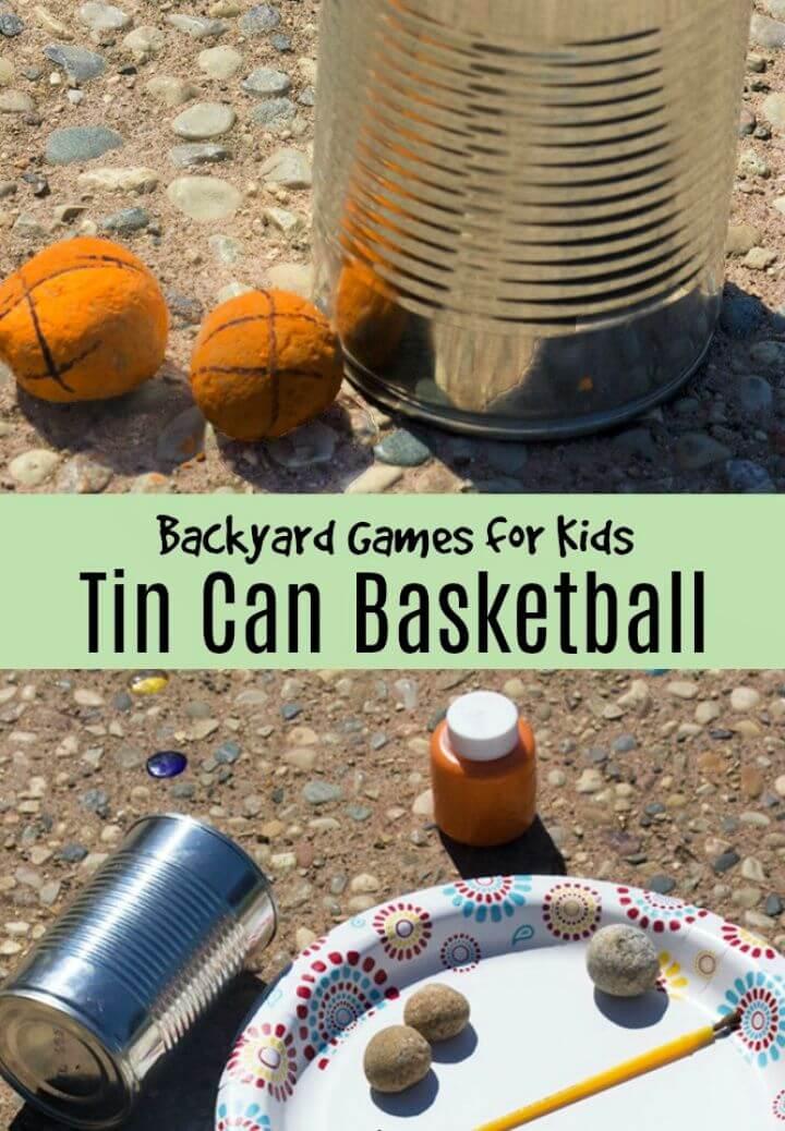 Backyard Games for Kids Tin Can Basketball
