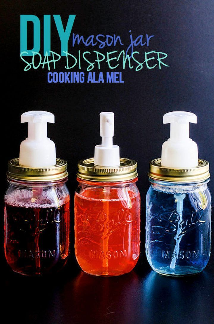Beautiful DIY Mason Jar Soap Dispenser