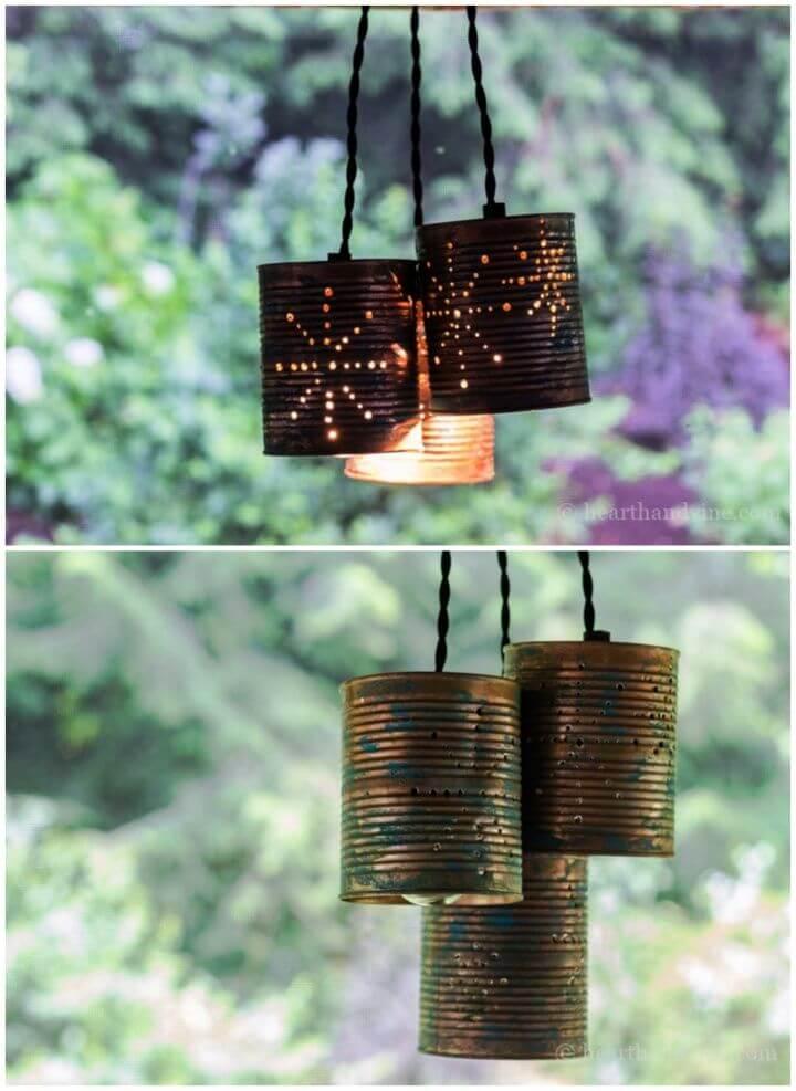 Beautiful Tin Can Pendant Lights