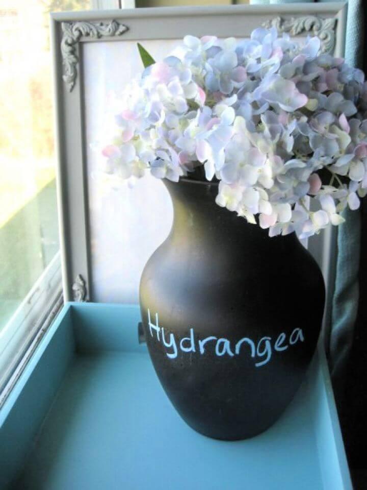 Best Chalkboard Paint Vase Tutorial