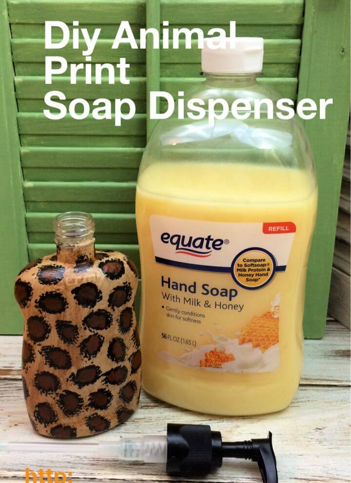 Best DIY Animal Print Soap Dispenser