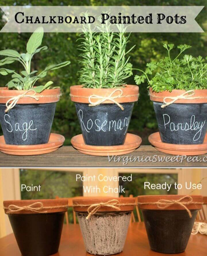 Best DIY Chalkboard Painted Pots