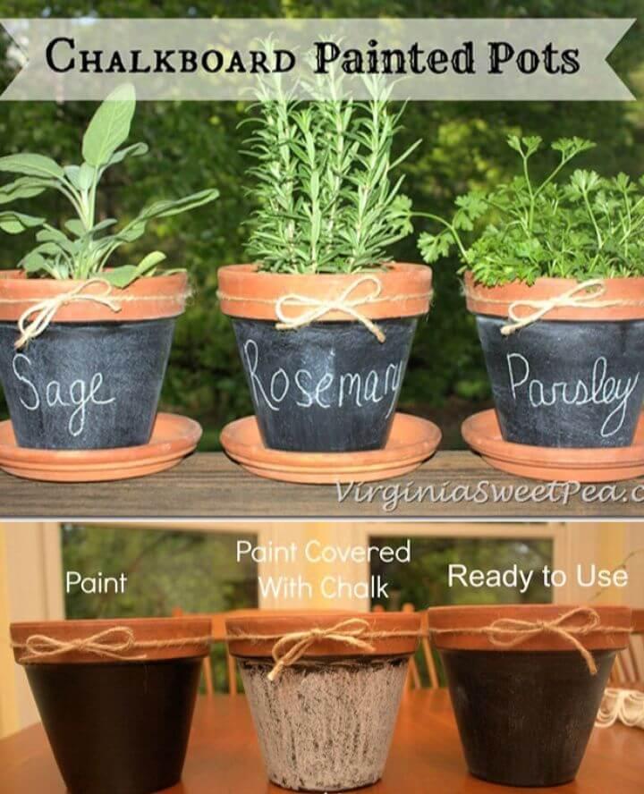 Best DIY Chalkboard Painted Pots