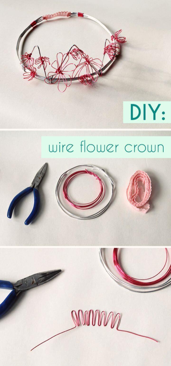 Birdie's Wire Flower Princess Crown