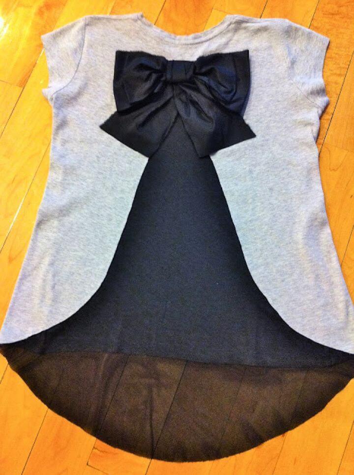 Bow T shirt Refashion