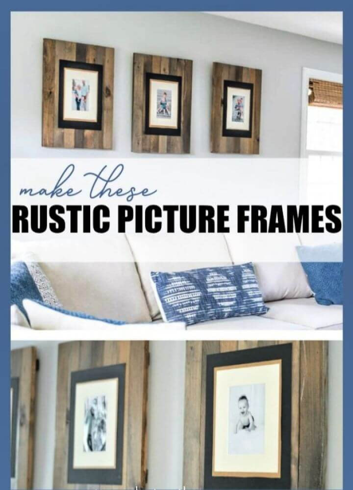 Build A DIY Rustic Picture Frame