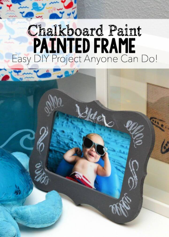 Chalkboard Paint – Painted Frame