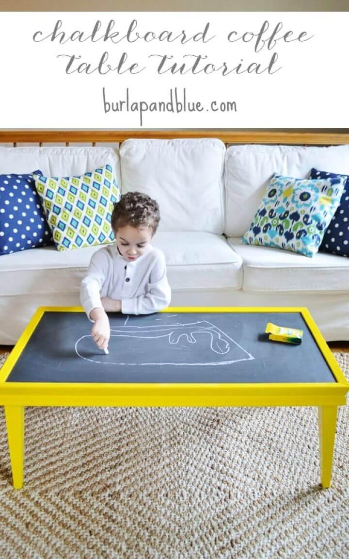 Chalkboard Paint Coffee Table
