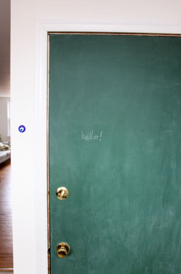 Chalkboard Paint Door