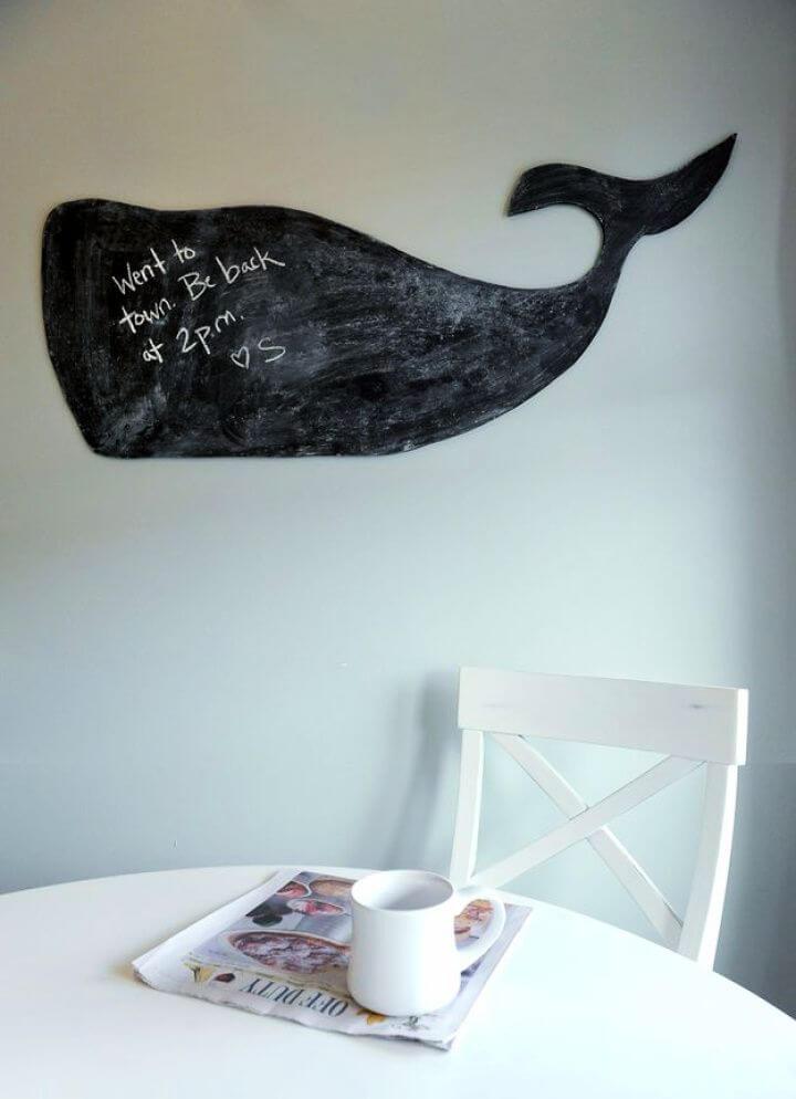 Chalkboard Whale Wall Decor