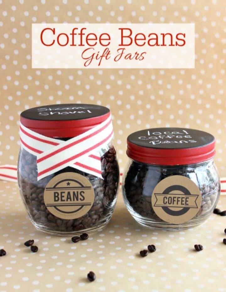 Coffee Bean In A Jar Valentines Gift