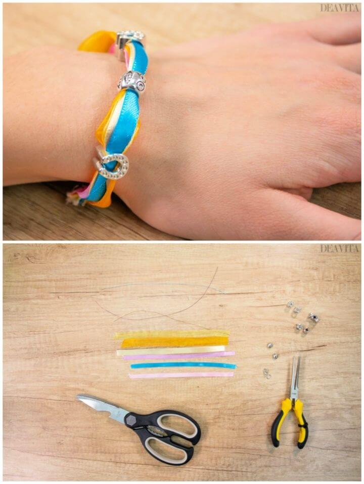 Colorful Ribbons And Beads