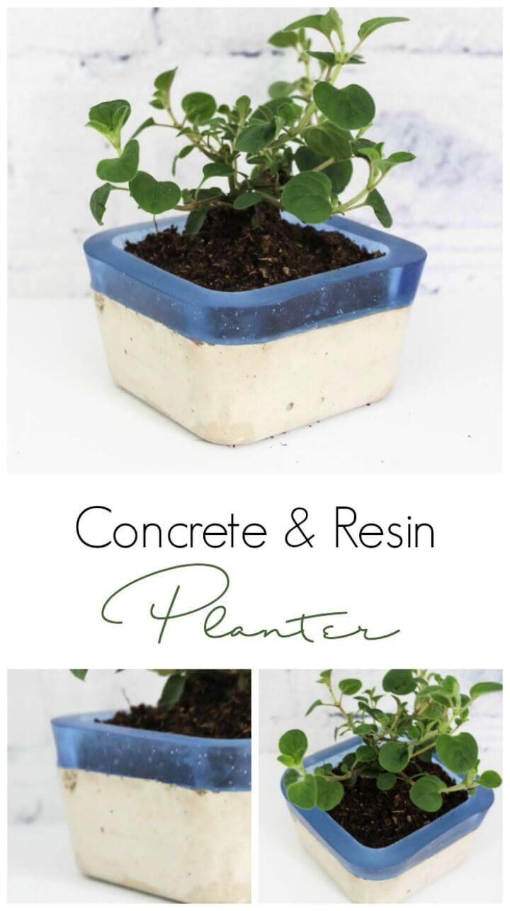 Concrete And Resin Planter