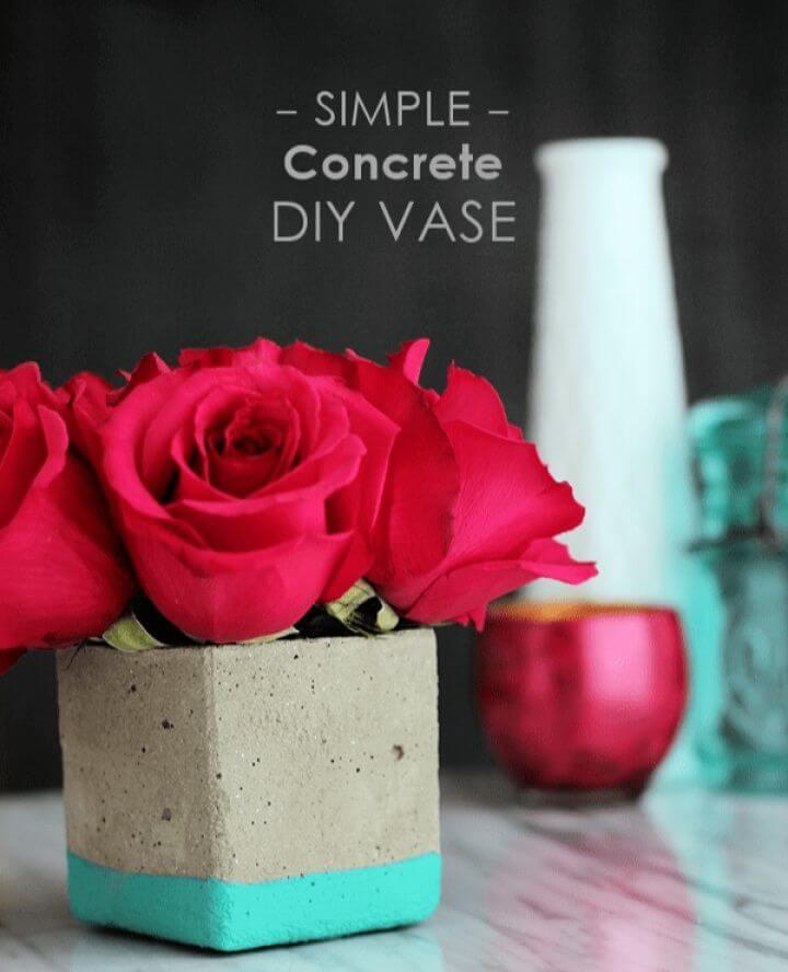 Concrete Floral Vase